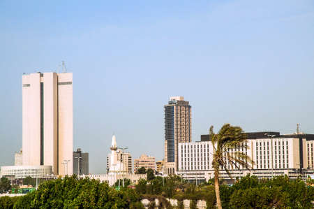 Modern buildings in the center of Jeddah in Saudi-Arabia Stok Fotoğraf