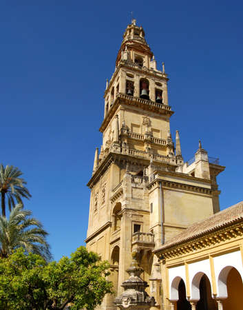 Mezquita  Mosque  Cathedral bell tower, Cordoba, Cordoba Province, Andalucia, Spain, Western Europe  Stock Photo