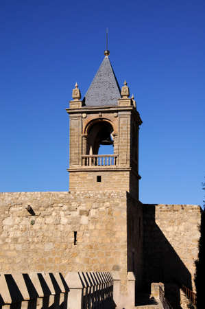 Castle keep tower  torre del homenaje  and battlements, Antequera, Malaga Province, Andalucia, Spain, Western Europe Stock Photo - 13239254