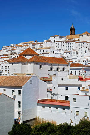 View of the town and houses, Alcala de los Grazules, Cadiz Province, Andalucia, Spain, Western Europe Stock Photo - 13239151