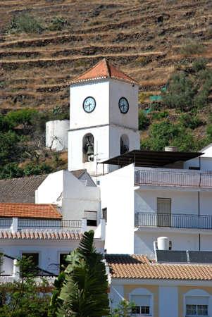 Town church and houses, Algarrobo, Axarquia region, Malaga Province, Andalucia, Spain, Western Europe Stock Photo - 13290821
