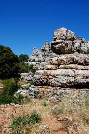 Karst landscape, El Torcal National Park, Torcal de Antequera, Malaga Province, Andalucia, Spain, Western Europe  photo