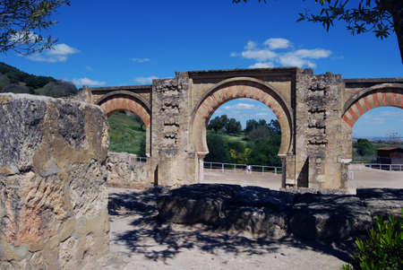 Moorish arch  Portico , Medina Azahara  Madinat al-Zahra , Near Cordoba, Cordoba Province, Andalucia, Spain, Western Europe Stock Photo - 13291131