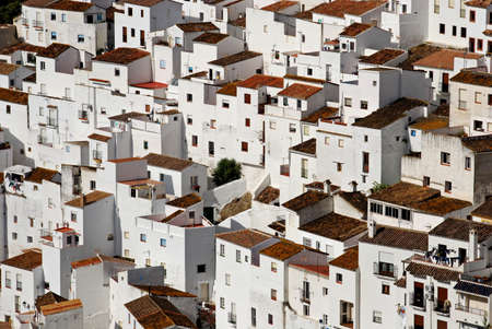townhouses: View of townhouses, pueblo blanco, Casares, Costa del Sol, Malaga Province, Andalucia, Spain, Western Europe