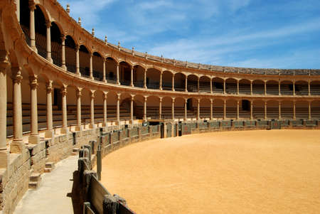 malaga: Spains oldest bullring built in 1785, Ronda, Malaga Province, Andalucia, Spain, Western Europe