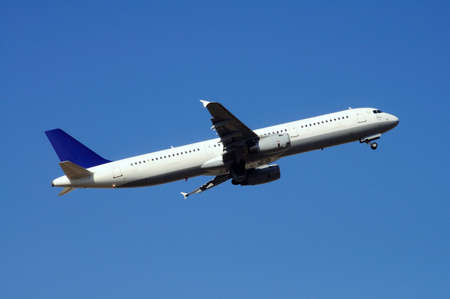 Airbus A321 aeroplane taking off