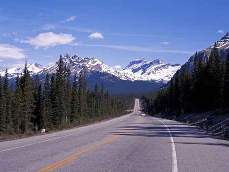 Bekijk langs de Highway 93, de Icefields Parkway, Alberta, Canada