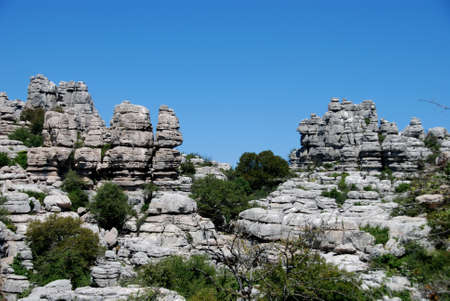 Karst landscape, El Torcal National Park, Torcal de Antequera, Malaga Province, Andalucia, Spain, Western Europe  Stock Photo - 13930845