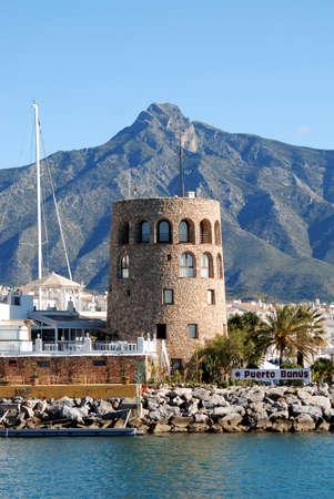 View of the harbour area, Puerto Banus, Marbella, Costa del Sol, Malaga Province, Andalucia, Spain  Stock Photo - 14631800