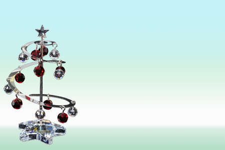 Crystal Christmas tree against graduated background Stock Photo - 15217636