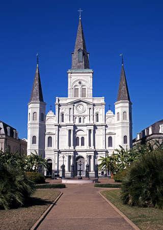st louis: Saint Louis Cathedral, Jackson Square, New Orleans, Louisiana, USA