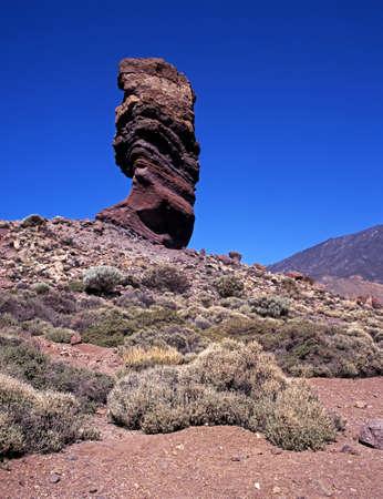 Roque Cinchado, Las Canadas National Park, Tenerife, Canary Islands, Spain   Stock Photo - 15725524