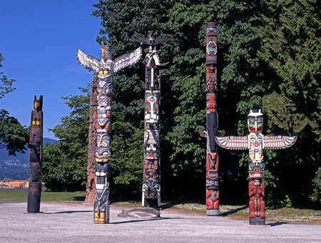 Totem Poles, Stanley Park, Vancouver, British Columbia, Canada