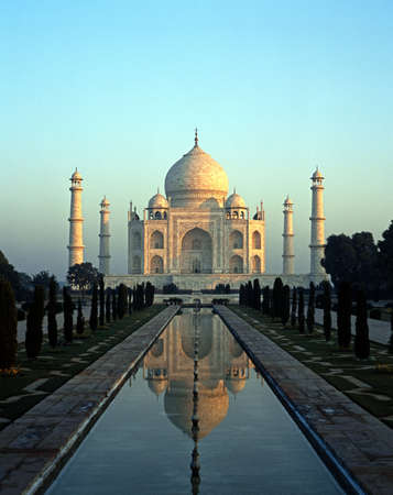 The Taj Mahal in the early morning photo