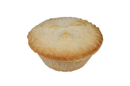 mince pie: Single mince pie against a white background