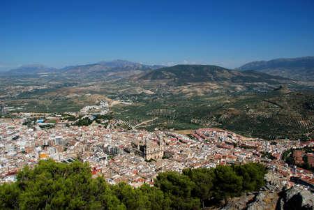 Hemelvaart van de Maagd kathedraal Santa Iglesia Catedral - Museo Catedralicio met uitzicht over de omliggende stad daken, Jaen, Jaen provincie, Andalusië, Spanje, West-Europa