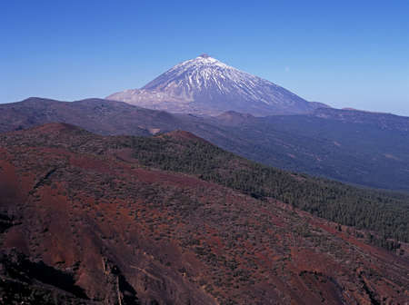 View of Mount Teide and surrounding countryside, Tenerife, Canary Islands, Spain   photo
