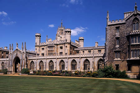 cambridgeshire: St. Johns College and gardens, Cambridge, Cambridgeshire, England, United Kingdom, Western Europe. Stock Photo