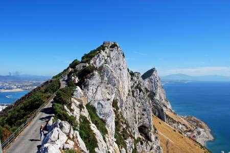 Weg langs de Rock, Gibraltar, Groot-Brittannië, West-Europa