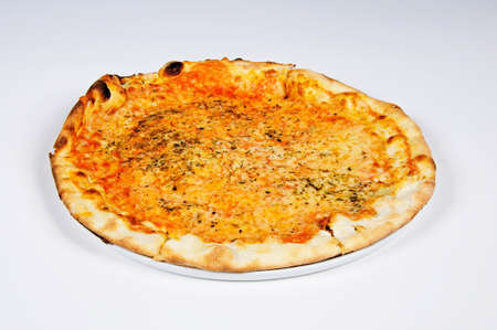 western europe: Pizza Margherita; Andalucia, Spain, Western Europe.