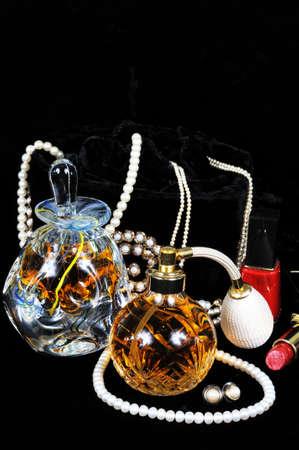 Parfum verstuiver fles, parfum fles met kurk en juwelen