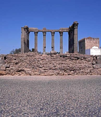 1st century ad: Roman Temple, Evora, Alentejo region, Portugal, Western Europe