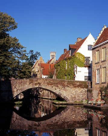 rei: The Groene Rei  Green Quay , Bruges, West Flanders, Belgium, Europe