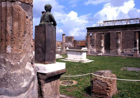 Temple of Apollo, Pompeii  Pompei , Nr  Naple, Campania, Italy, Europe