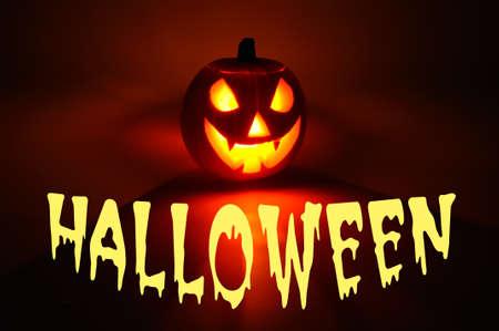 candlelit: Halloween scary face pumpkin