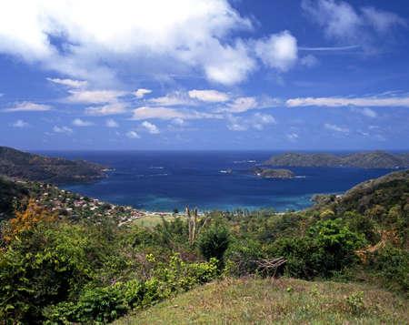 Uitzicht op Speyside, Tobago, Trinidad en Tobago, Caraïben, West-Indië Stockfoto