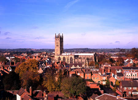 View of town, Warwick, England