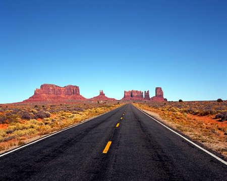 国道 163、ユタのアリゾナ州、アメリカ合衆国 写真素材