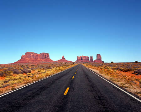 Highway 163, Utah Arizona, United States of America  Stok Fotoğraf