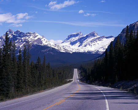 Highway 93, The Icefields Parkway, Banff National Park, Alberta, Canada photo