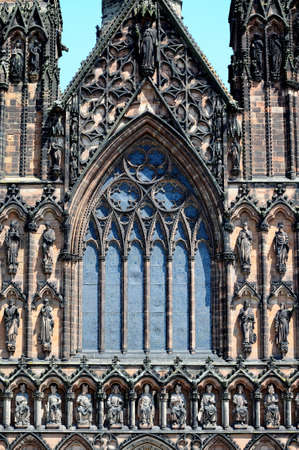 Front window view of the Cathedral, Lichfield, Staffordshire, England, Western Europe  photo