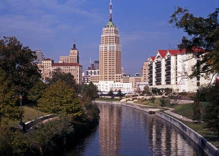 San Antonio Riverwalk, The Alamo, San Antonio, Texas, USA
