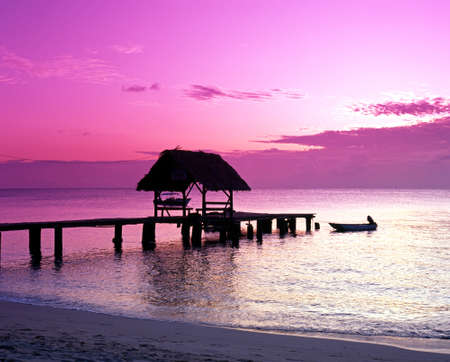 Pigeon Point Jetty at sunset, Tobago, Trinidad   Tobago, Carribean, West Indies  photo
