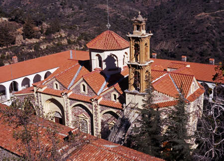 Machairas Klooster, Troodos-gebergte, Cyprus Stockfoto