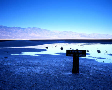 Badwater creek, Death Valley, California, USA Banco de Imagens