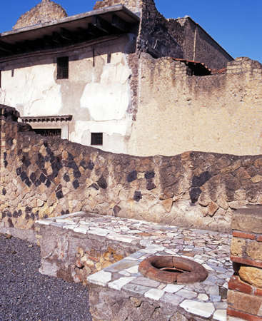 Roman house and bar, Herculaneum, Nr  Naples, Campania, Italy, Europe photo