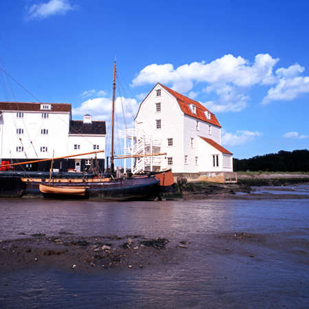 watermills: Tide Mill and Quayside, Woodbridge, Suffolk, England, UK, Western Europe