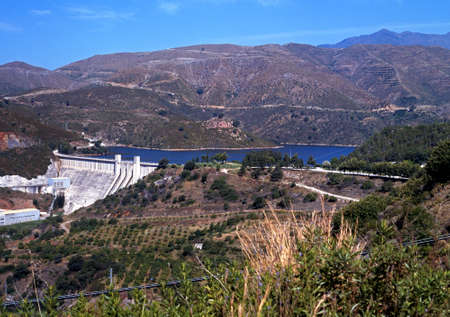 Embalse de la Concepcion  El Angel Reservoir  on the Rio Verde between Marbella and Istan, Costa del Sol, Malaga Province, Andalucia, Spain, Western Europe La Concepcion DamLa Concepci�n reservoir is located in Marbella, near Ist�n photo