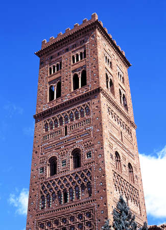 mudejar: San Salvador church tower, Teruel, Teruel Province, Aragon, Spain, Western Europe  Stock Photo