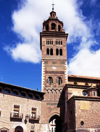 Kathedraalklokketoren klokkentoren, Teruel, Aragon, Spanje, West-Europa