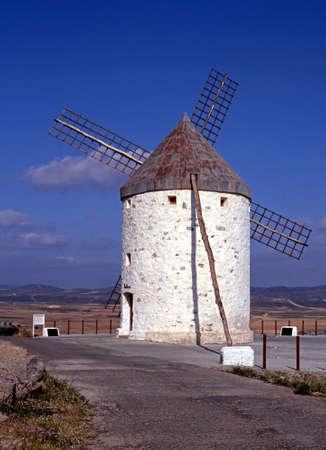 castille: Windmill, Consuegra, Near Toledo, Castille - La mancha, Spain, Western Europe