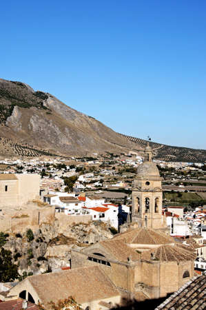 loja: View of the Loca town in Andalucia, Spain  Stock Photo