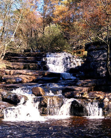 Yorkshire Dales: Kisdon Falls Waterfall, Keld, Yorkshire Dales, North Yorkshire, England, UK, Great Britain, Western Europe  Stock Photo