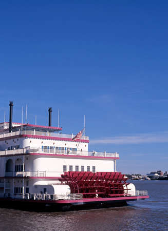 Paddle steamer along the Mississippi River, New Orleans, Louisiana, USA  photo