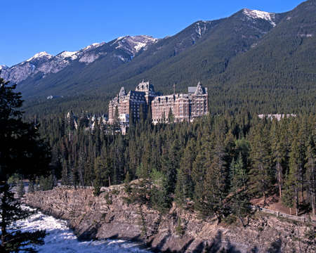 Alberta, Canada - Circa June 1995 - Banff Springs Hotel, Banff National Park, Alberta, Canada