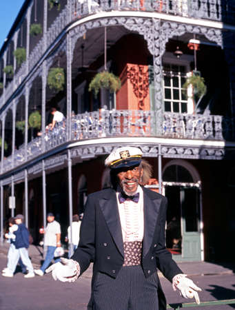New Orleans - Circa November 1995 - Street performer in Royal Street, French Quarter, New Orleans, Louisiana, USA Sajtókép
